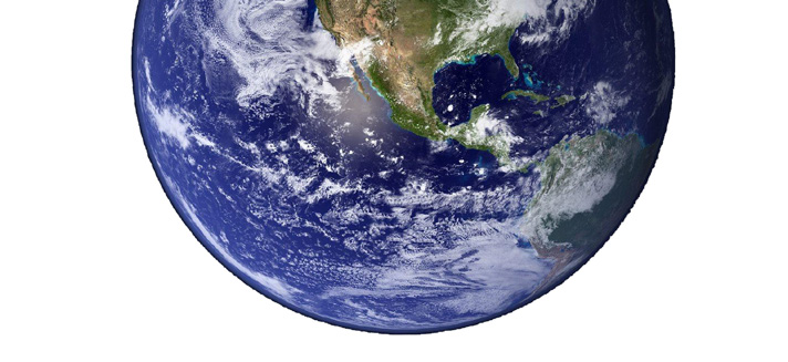 Aerial view of the planet earth