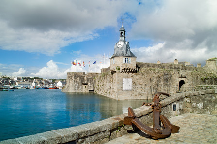 Old harbour in Bretagne