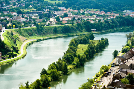 Aerial view of the Meuse