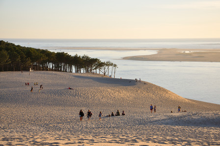Landscape view from the Dune du Pyla