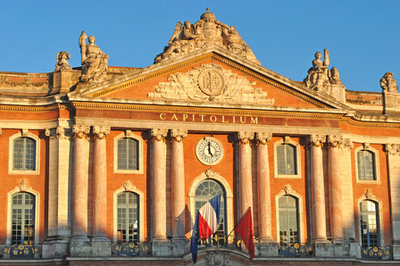 Front of the Capitole in Toulouse (Capitole square)